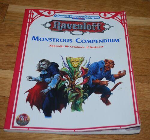 AD&D 2e Ravenloft Monstrous Compendium Appendix III Creatures of Darkness