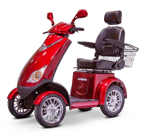 New Red Ewheels Ew-72 Fast Hd 4 Wheel Mobility Scooter, Up To 15 Mph, 500 Lb