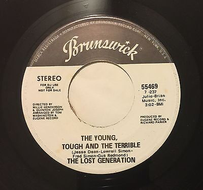 Lost Generation Young Tough And Terrible 45 Brunswick Wlp Sweet Soul
