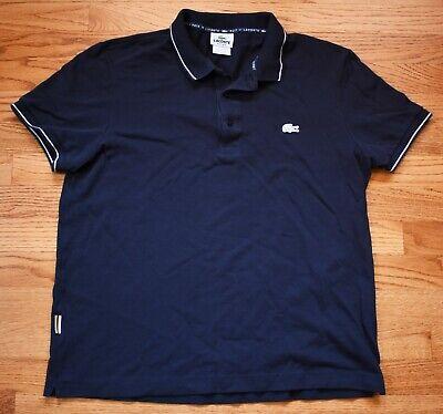 LACOSTE Polo Shirt Short Sleeve Mens Regular Fit 5 M Medium Navy Blue Izod