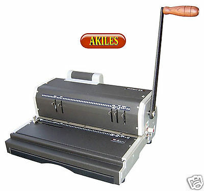 Akiles Coilmac-er Coil Binding Machine Punch With Electric Inserter New