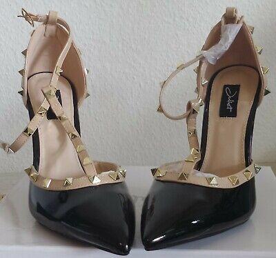 Damen Sexy Stiletto High Heels Lack Absatz 12 cm Groesse 39