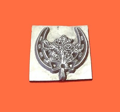 HOT FOIL PRINTING PLATE LETTERPRESS BLOCK Wedding Horseshoe 33 x 34mm #199