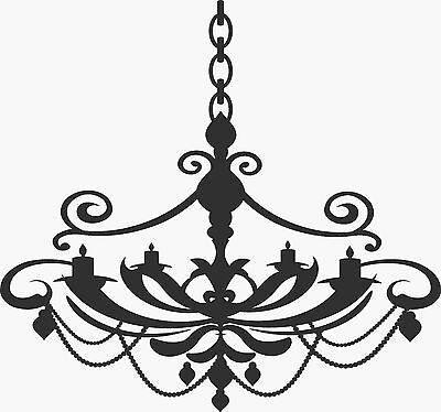 **Silhouette of a Chandelier** - Vinyl Wall Decal / Sticker [Home 7] 22