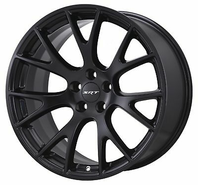 "20"" Fits Hellcat Wheels Satin Black SRT8 Dodge Challenger Charger 20x9.5"" Rims"