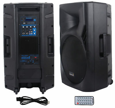 "STARAUDIO Professional 15"" 3500W Powered DJ Audio Stage USB Bluetooth PA Speaker"