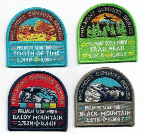 PHILMONT SCOUT RANCH * PHILMONT SUMMITS SERIES * SET OF (8) * NEW 2017