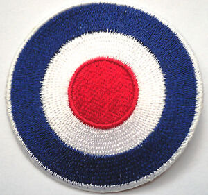 *Embroidered*Target iron on sew patch Mod Scooter RAF ROUNDEL the jam```````
