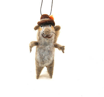 HomART Woolly Squirrel With Brown Hat Ornament