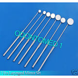 SET OF 7 LARYNGEAL BOILABLE HYGIENE DENTAL MIRRORS WITH HANDLE #0,1,2,3,4,5,6