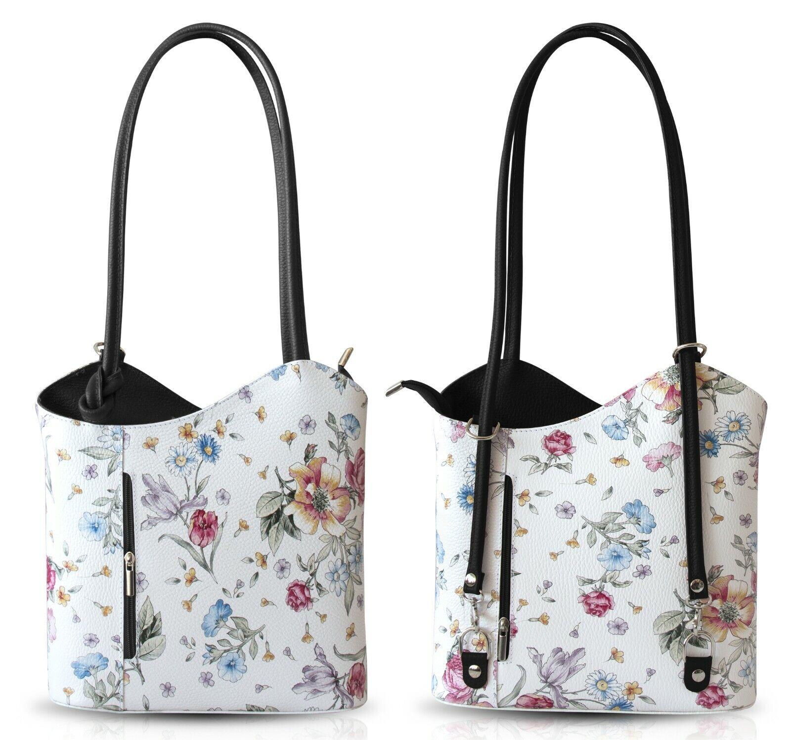 0ce9f867fed90 Damen Handtasche Leder Rucksack Damentaschen Backpack Schultertasche  Ledertasche ...