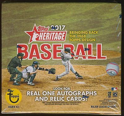 2017 Topps Heritage Baseball Trading Cards Sealed 24 Pack Retail Box
