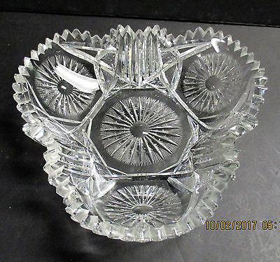 RARE Pitkin Brooks  or Enterprise  SUNBURST Trifoil Bowl