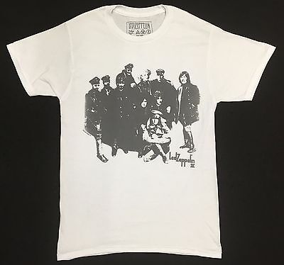 Led Zeppelin II Vintage T-Shirt White 100% Authentic Official RARE!!!