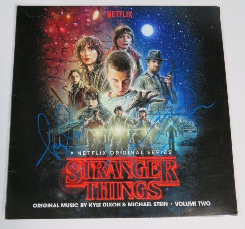Kyle Dixon & Michael Stein STRANGER THINGS Signed Autograph Album Vinyl LP