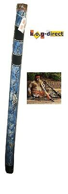 DIDGERIDOO HARDWOOD 60CM ABORIGINAL STYLE BEAUTIFULLY HAND PAINTED NEW BL