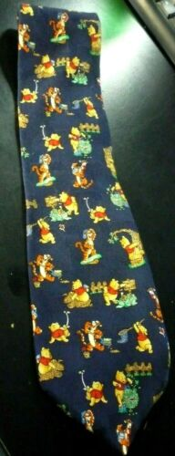 Winnie The Pooh and Tigger Neck Tie Blue cartoon