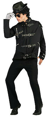 Adult Michael Jackson Deluxe Bad Buckle Costume Jacket - Michael Jackson Bad Kostüm