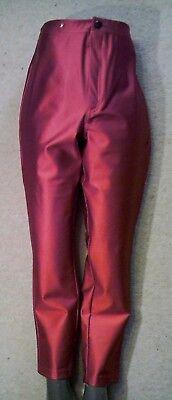 GLAMOROUS Faux Leather LONG/32 DISCOPANTS TROUSERS uk14us10eu40 Waist w31in w79c - Glamorous Disco Pants