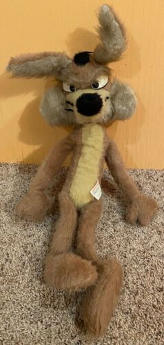 Vintage Mighty Star Wile E. Coyote Warner Brothers Bros 1971 Plush Toy Stuffed