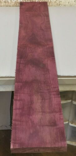 "L1) Figured Purpleheart Lumber (36"" x 6"") Board 1"" thick Kiln Dried Wood"