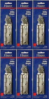 Hager 3 x 3 Square Corner Utility Hinges Lot 12 Total With Screws Cabinet for sale  Shipping to Canada