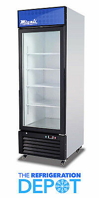 Migali C-23rm Single-door Hinged Glass Refrigerator 23 Cu. Ft- Free Shipping