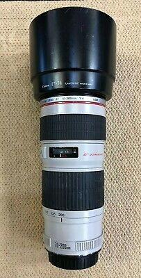 Canon EF 70-200mm f/4 USM Lens ULTRASONIC Zoom Lens used works perfect
