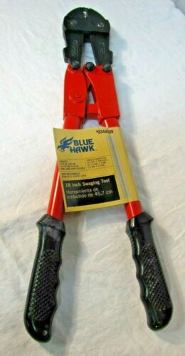 Blue Hawk Swaging Tool, 18 inch, for 1/16-in to 3/16-in ferrules LS30-2 - NEW