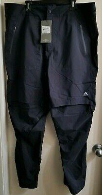 NEW ADIDAS ClimaProof Storm Adipure Black Waterproof Golf Pants Men's 2XL XXL ()