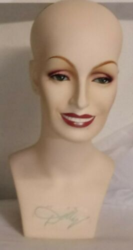 """Vintage Dolly Parton Wig Head 16"""" Tall store mannequin RARE"""