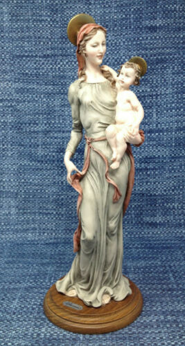 "Giuseppe Armani Figurine Madonna and Christ Child Jesus Italy Vintage 13"" EUC"