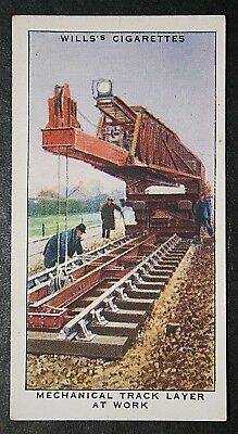 LNER  Mechanical Track Layer   Original 1938 Vintage Card # VGC