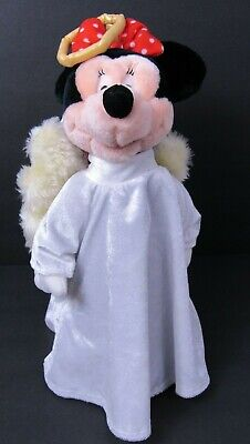 Vintage 2000 Disney Store Plush Angel Wings Minnie Mouse Christmas Tree Topper