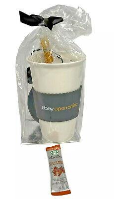 2021 eBay Open Online Ceramic Travel Mug with Rubber Top & Tea Coffee Unopened