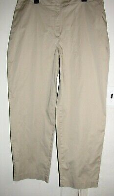 Jones New York women's khaki pants stretch cotton slacks elastic sides 18 W Jones New York Elastic