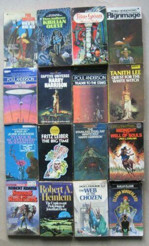 Lot of 32 Vintage Science Fiction Fantasy Paperbacks. Anderson Zelazny Farmer