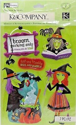 Holiday Park Halloween Party (KP Halloween Witch Broom Parking Cauldron Spell Book  RARE K&Company 3D)
