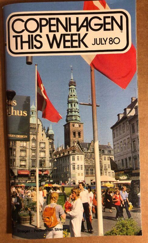 Copenhagen This Week, July 1980, Tourist Travel Guide Book, Denmark