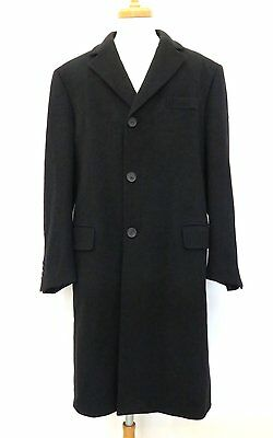 100% Authentic GUCCI Men's Coat 100% Lana Black Made In Italy
