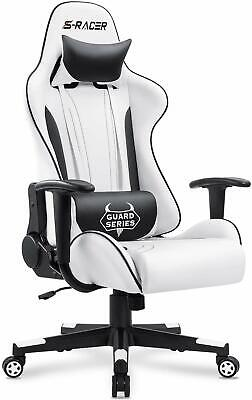 Video Racing Gaming Chair High Back Reclining Leather Office Computer Desk Seat