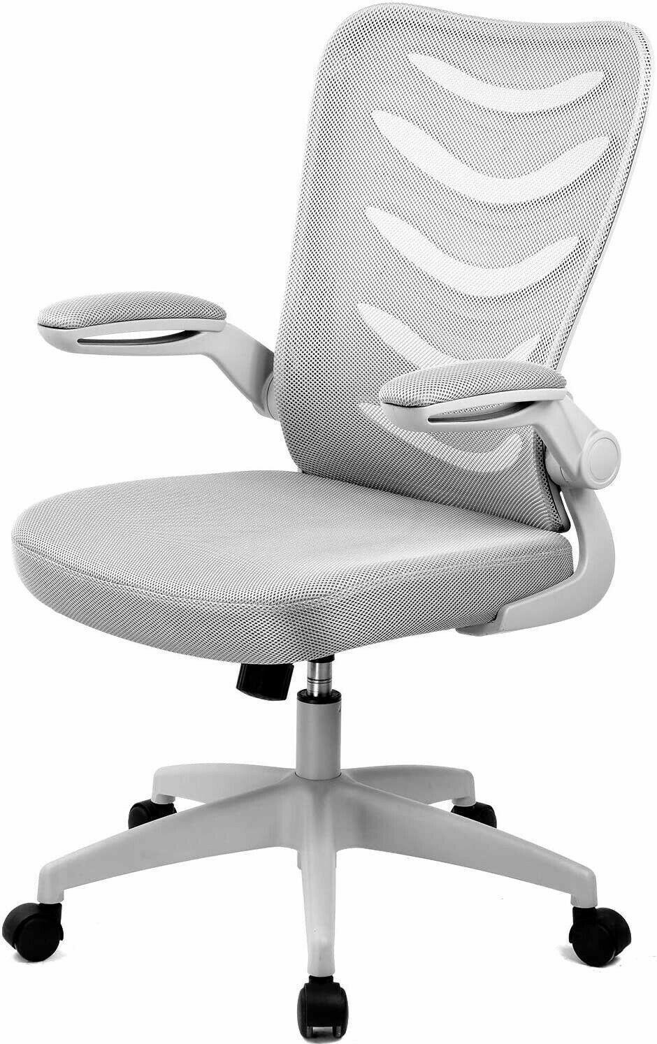 COMHOMA Bürostuhl Schreibtischstuhl Ergonomischer Drehstuhl Grau