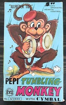 Yanoman ILLFELDER Pepi Tumbling Monkey with Cymbal W/ Box & Original Sticker](Monkey With Cymbal)