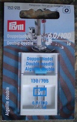 Prym Double Needle - Machine Needle  S/N. 152918  Size 100 / 16