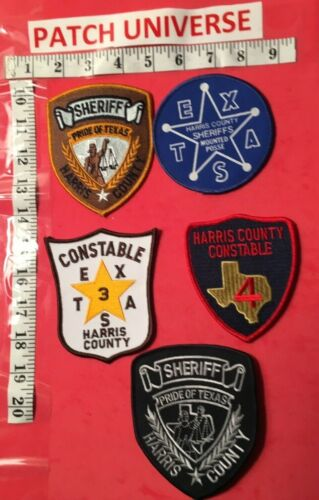LOT OF 5  DIFFERENT HARRIS COUNTY  SHOULDER PATCHES  K063