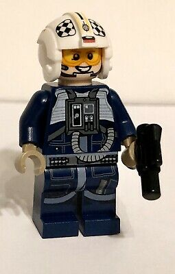 Authentic U/Y Wing Rebel Pilot 75155 75172 Rogue One Star Wars Lego Minifigure