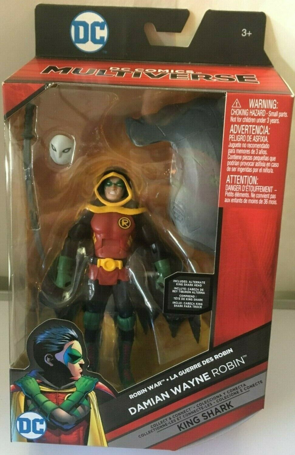 DC Comics Multiverse Damian Wayne Robin Build King Shark Act