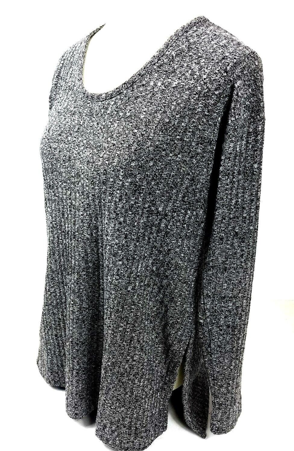 3de5751e1c0 Details about Ann Taylor LOFT Sweater Size Large Women's Pullover Gray Long  Sleeve Textured