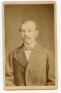 CDV Photo - Man With Jacket, Moustache - Crailsheim, Strauss & Ehmert Studio