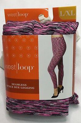 West Loop Seamless Pink Space Dye Leggings Ladies Leggings L/XL New